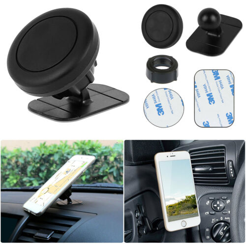 360° Universal Magnetic Car Mount Holder Stand Dashboard For iPhone XS R Sansung