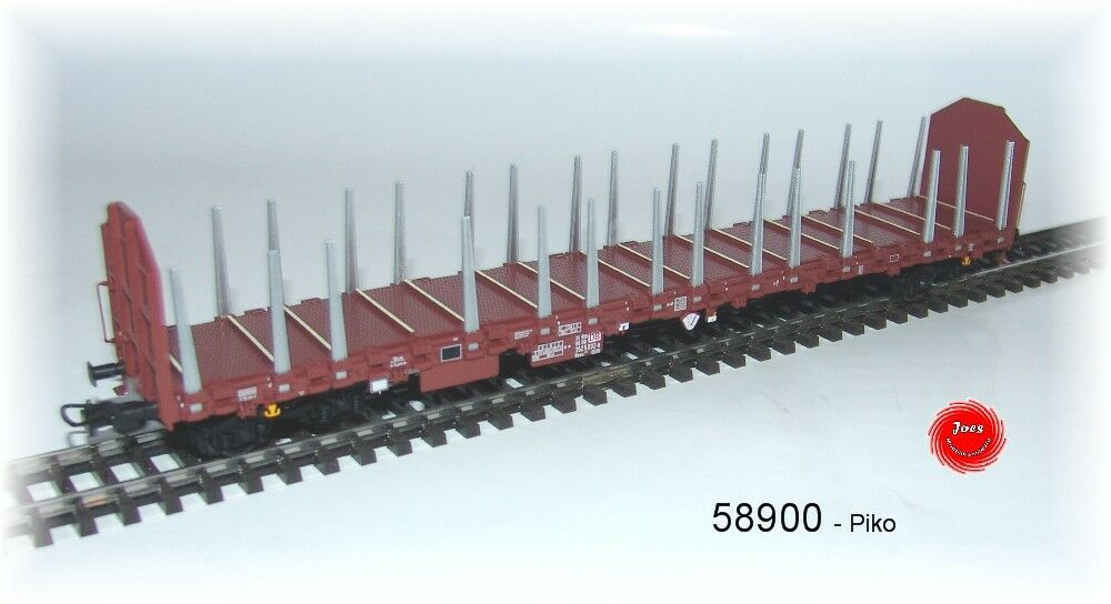 Piko 58900 -  Stammholztransportwagen Stammholztransportwagen Stammholztransportwagen Roos DB Cargo ohne Ladung ebe702