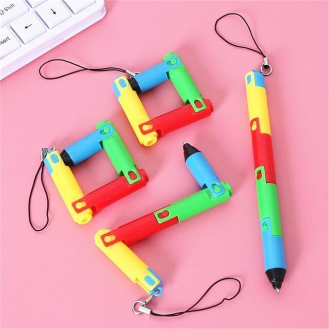 Creative Kawaii Foldable Pen Plastic Ballpoint Stationary School Supplies N9F8