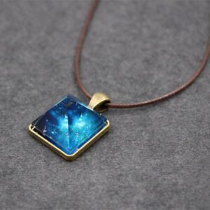 Starry-Sky-Dreamy-For-Men-Pyramid-Cool-Pendant-Luminous-Necklace-Crystal