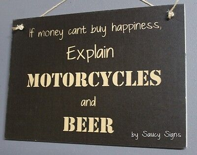 Motorcycles and Jim Beam Sign Biker Shed Bar Garage Man Cave Wooden BBQ Moto GP