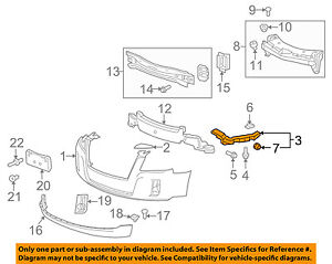OEM NEW Front Bumper Right /& Left Retaining Bracket Set 2010-2017 GMC Terrain