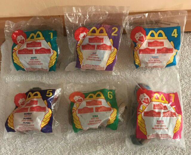 NEW NIP 1998 McDonalds Lot 6 LION KING II Simba's Pride Happy Meal Plush Toys