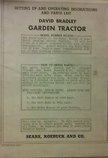 Sears David Bradley Walk Lawn Garden Tractor Owner Parts Amp Service 6 Manual S