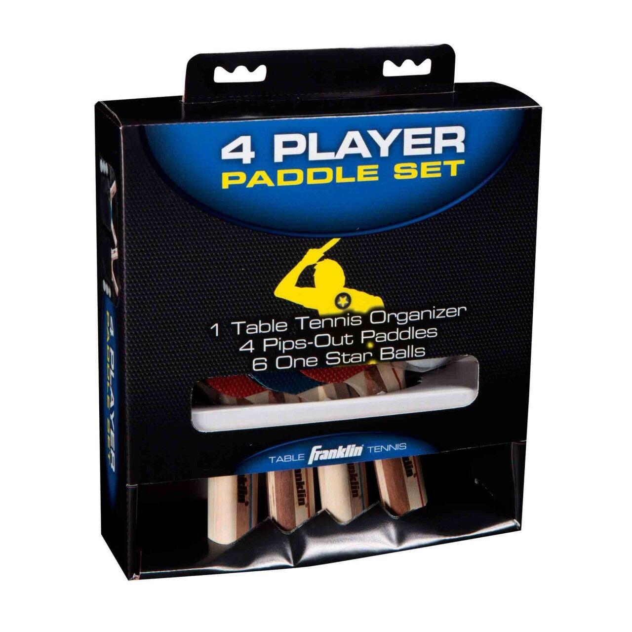 Franklin Tischtennisschläger und -ball-Set für 4 Spieler, Spieler, Spieler, Sport, Spiel, 008d3d