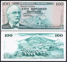 ISLANDIA / ICELAND 100 CORONAS 1961  Pick 44a   SC  UNC