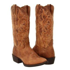 Justin Men S New Stampede Dark Tan Puma Work Western Boots