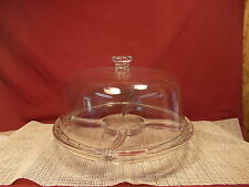 Nice Heavy Glass Cake Stand With Dome