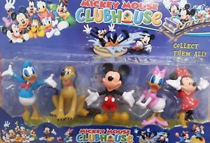 Disney-Mickey-Mouse-Clubhouse-Donald-Minnie-Goofy-Pluto-collectible-figures-Cake