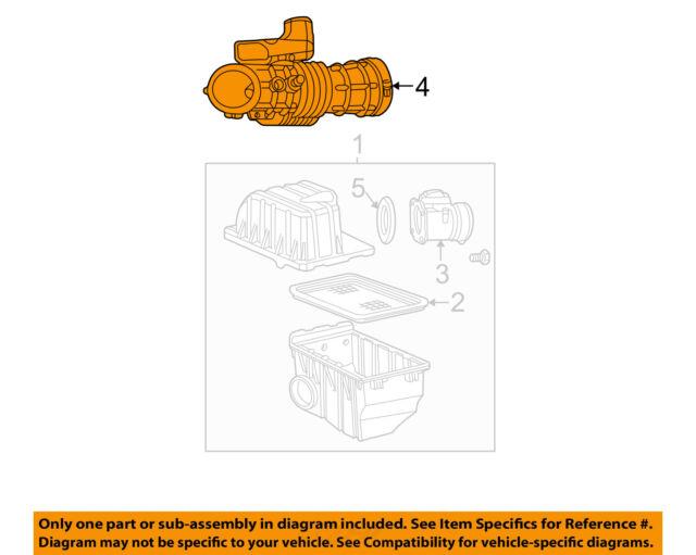 2005 Ford Mustang Gt 4 6 3v Air Intake Tube Nos Oem Ebay