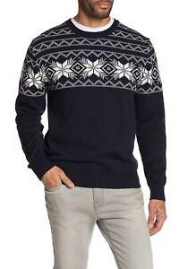 Weatherproof-Vintage-Mens-Sweater-Blue-Size-Large-L-Crewneck-Fair-Isle-75-167