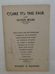 Come-To-The-Fair-and-Eleven-More-Piano-Solos-Sheet-Music-Tablature-Boosey-1950s