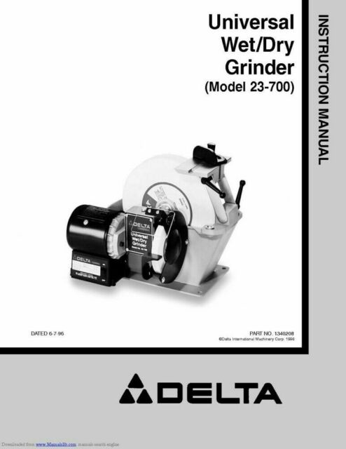 Surprising Delta 23 700 Grinder Owners Instruction Manual Pdf Or Printed Free Shipping Gmtry Best Dining Table And Chair Ideas Images Gmtryco