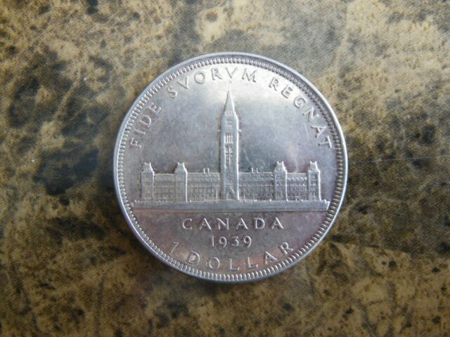 CANADA 1939 80% SILVER KING GEORGE VI DOLLAR COIN