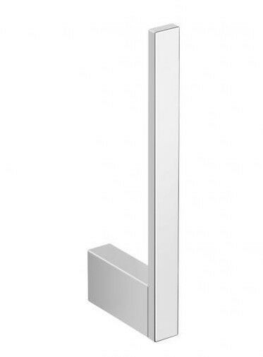 Milli EDGE SPARE TOILET ROLL HOLDER 160mm Brass, Wall Mounted CHROME