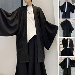 Fashion-Mens-Japanese-Style-Retro-Oversize-Yukata-Kimono-Casual-Loose-Coat