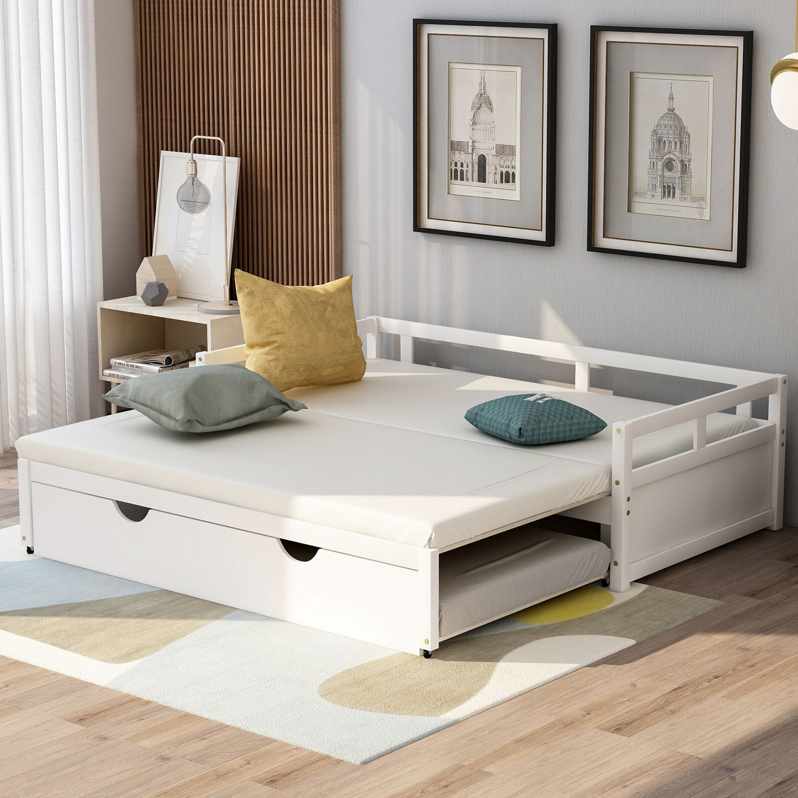 Bronze Metal Frame Twin Daybed W Trundle Set Space Saving Bed Bedroom Furniture For Sale Online Ebay