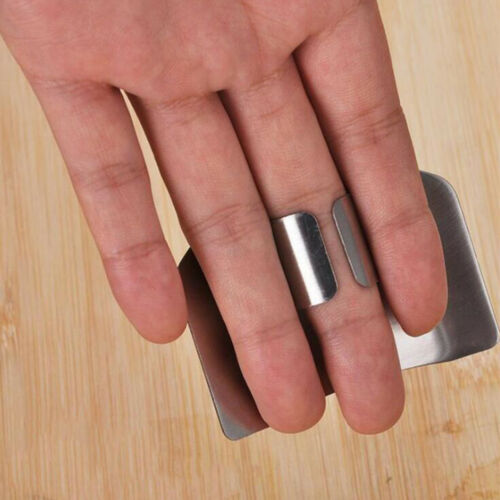 Finger Hand Protector Guard Stainless Steel Chop Slice Shield Kitchen Cook Tool