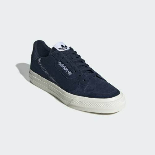 Adidas Continental Vulc Navy/ White Trainers Uk Size 7