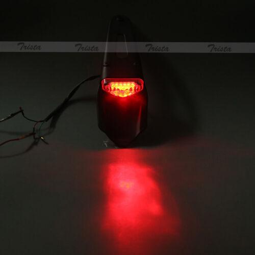 Smoke 12 LED Universal Motorcycle Enduro Trial Dirt Fender Brake Tail Light #JP