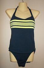 Nautica Brand. Dark Navy Blue 2-Piece Halter Tankini. Ladies Size 8