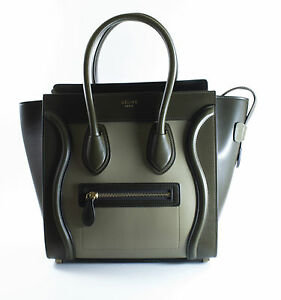 Image Is Loading Celine Brand New Micro Luggage Handbag In Smooth