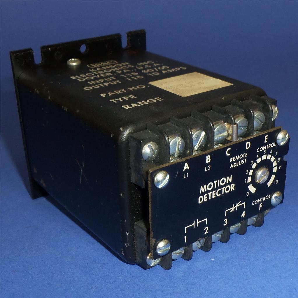 ISSC KANSON ELECTRONICS 115V 10A .06-10.0 SECOND MOTION DETECTOR 1214-1-G-B