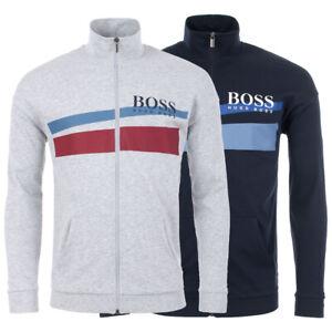 Hugo-Boss-Men-039-s-Premium-Cotton-Sweater-Zip-Up-Sweatshirt-Track-Jacket