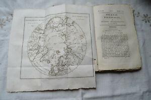 1818 Journal voyages découvertes navigations modernes T1 Verneur carte arctique