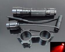 CREE 501B Rosso FASCIO Caccia Lampada pistola fucile luce portata Fit visione notturna