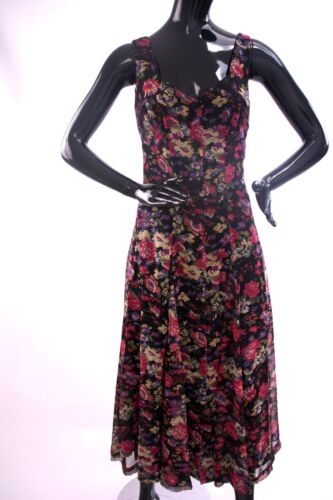 1990s Anna Sui floral day dress