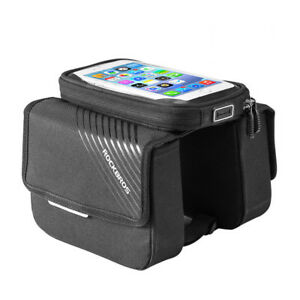 RockBros-Bicycle-Frame-Front-Bag-for-6-0-034-Touch-Screen-Mobile-Phone-Black-Bag