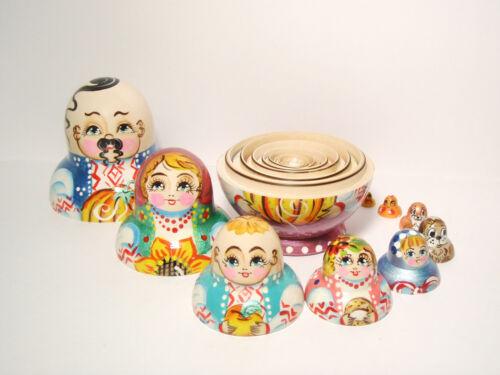 "14cm Matryoshka Cossack with a pumpkin 5,5/"" Nesting Doll Ukraine Family 10 pc"