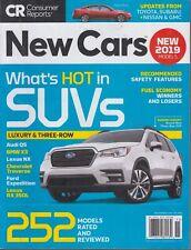 Consumer Reports November 2018 New Cars 2019 Models Suvs