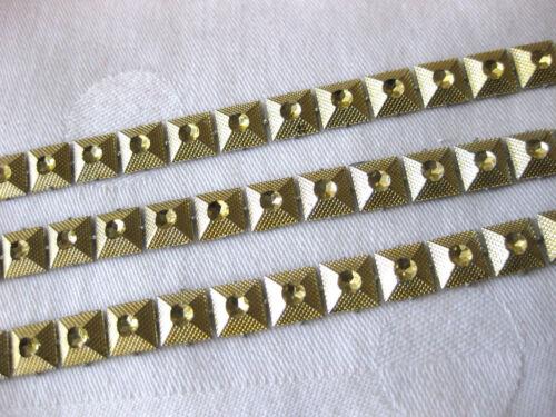8 mm de large 2 M Brillant GALON//1,45 € par mètre//or et argent r3