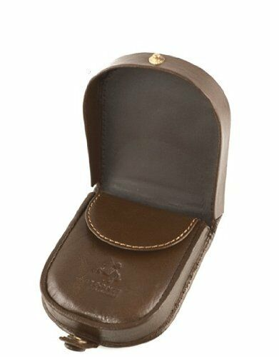Visconti TR5 Leather Horseshoe Tray Coin Purse Change Wallet Snap Close Key Hold