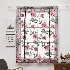 1 Transparent Raffrollo Blume Raffgardine Scheibengardinen Vorhang
