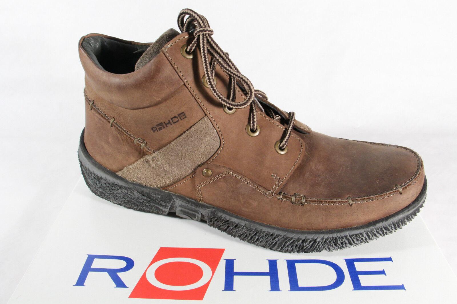 Rohde Stiefel zum Schnüren, Schnüren, zum braun, Boots Echtleder, NEU 235d6b
