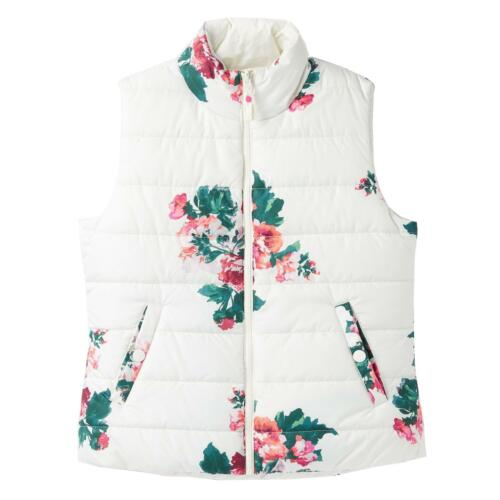 Joules Holbrook Padded Reversable Gilet Funnel Neck Vest Quilted Camping Walking