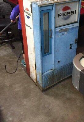 VINTAGE PEPSI COLA Side Door COIN OPER VENDING MACHINE