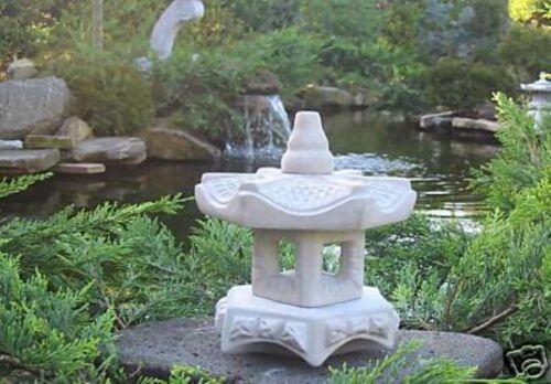 -Mini Yukimi Gartendekoration Koiteich Steinguß japanische Steinlaterne