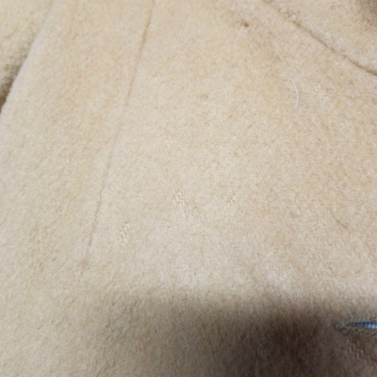 Vintage Juli de de de Roma Womens Sz  L 70s Camel Wool Coat Lined Union Made USA GUC 114635
