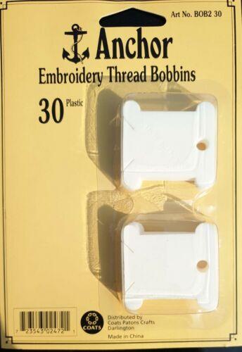 Anchor hilo de bordado de plástico Bobinas - Paquete de 30