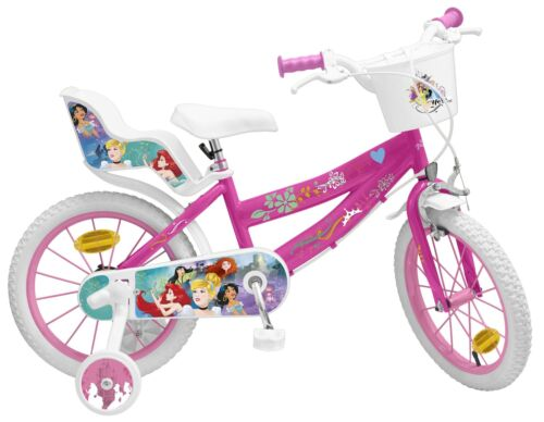 Kinderfahrrad Disney Princess 16 Zoll Fahrrad Prinzessin Cinderella Puppensitz
