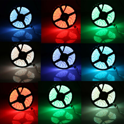5M RGB Waterproof LED Strip Light 5050 SMD 300 LEDs 44 Key Remote 12V Full Kit