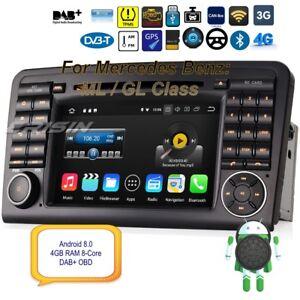 Autoradio-Android-8-0-Mercedes-DAB-ML-GL-Class-W164-X164-Car-GPS-OBD-8-Core-8861