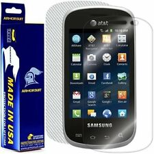 ArmorSuit MilitaryShield Samsung Galaxy Appeal Screen + White Carbon Fiber Skin