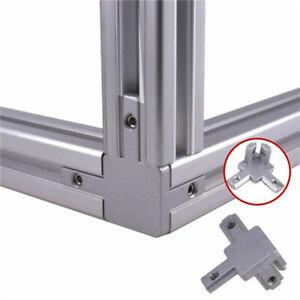 3-Way L Shape 90 Deg Interior Connector Bracket for 2020 Aluminum Profile
