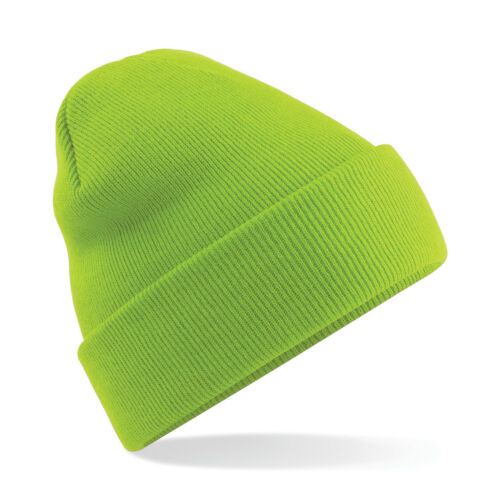 Workwear Beanie Hat Cuffed Woolly Mens Winter Uniform Soft Acrylic 60 colours