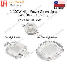 1w 3w 5w 10w 20w 30w 50w 100w Green 520 530nm High Power Smd Led Chip Cob Lamp